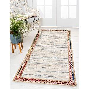 Unique Loom 2' 6 x 6' Chindi Jute Runner Rug
