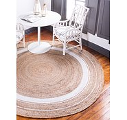 Link to Unique Loom 3' 3 x 3' 3 Braided Jute Round Rug