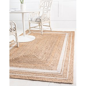 Unique Loom 6' x 9' Braided Jute Rug