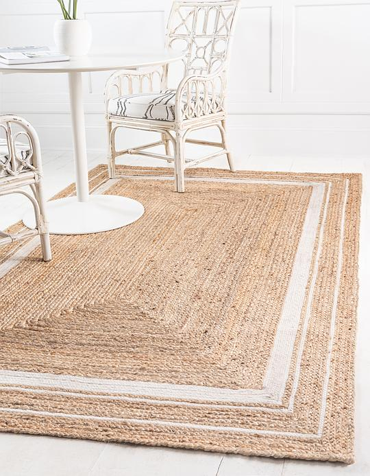 Natural 8 X 10 Braided Jute Rug Area Rugs Esalerugs