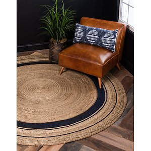 Unique Loom 3' 3 x 3' 3 Braided Jute Round Rug