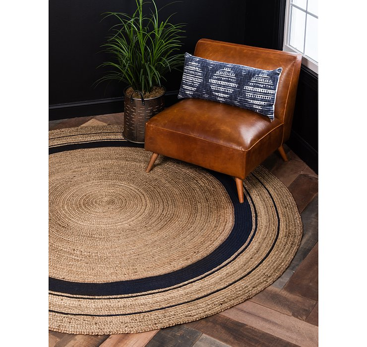 Natural Braided Jute Round Rug