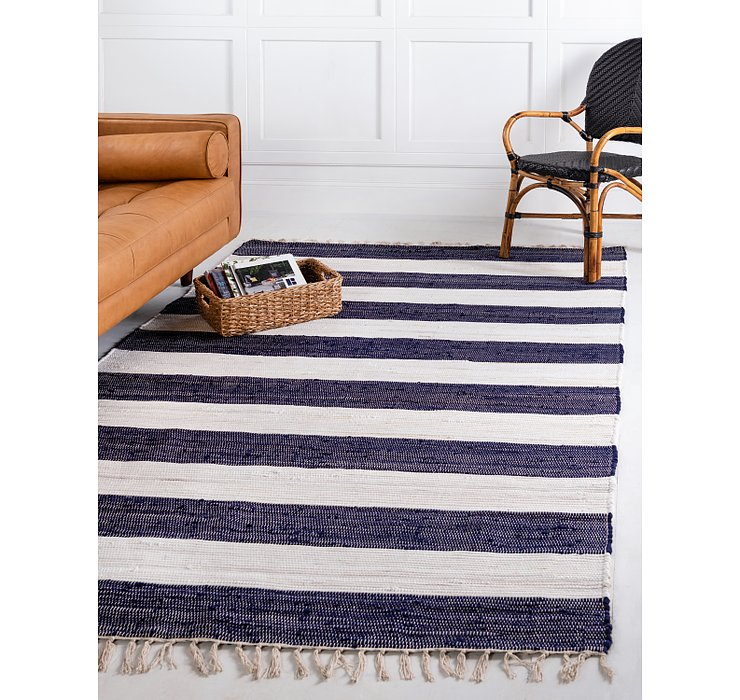 Navy Blue Chindi Rag Rug