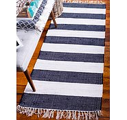 Link to Unique Loom 2' 6 x 6' Chindi Rag Runner Rug
