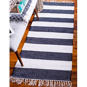 Unique Loom 2' 6 x 6' Chindi Rag Runner Rug