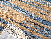 5' x 8' Braided Chindi Oval Rug thumbnail image 11