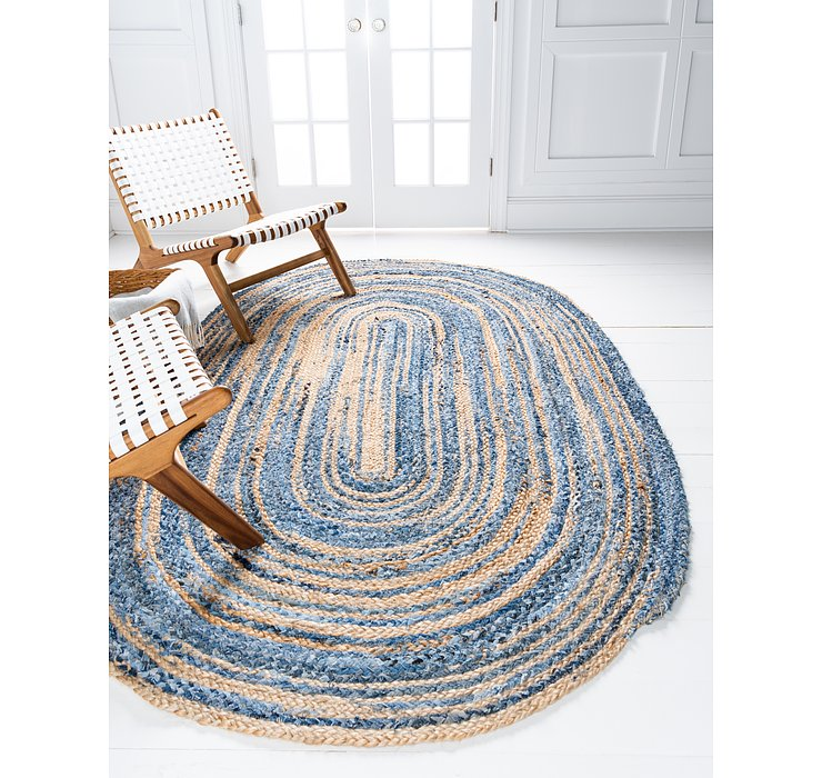 3' 3 x 5' Braided Chindi Oval Rug