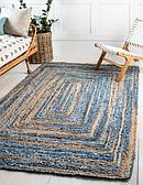 2' x 3' Braided Chindi Rug thumbnail image 1