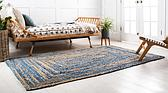 2' x 3' Braided Chindi Rug thumbnail image 2