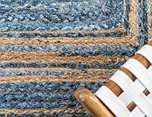 2' x 3' Braided Chindi Rug thumbnail image 5