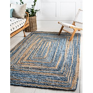 Unique Loom 2' x 3' Braided Chindi Rug