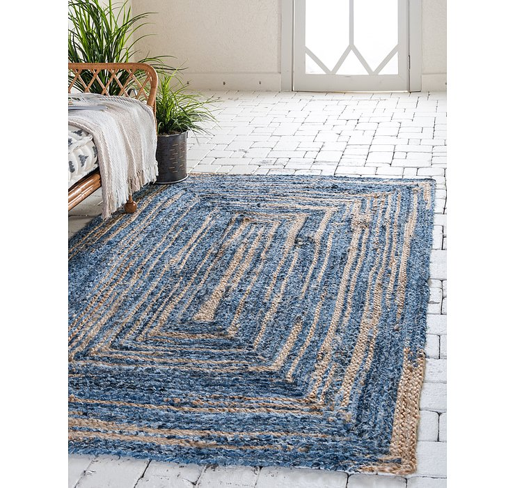 9' x 12' Braided Chindi Rug