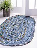245cm x 305cm Braided Chindi Oval Rug thumbnail image 1