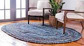 245cm x 305cm Braided Chindi Oval Rug thumbnail image 10