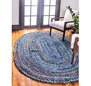 Link to Unique Loom 8' x 10' Braided Chindi Oval Rug