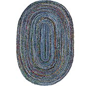 Link to 5' x 8' Braided Chindi Oval Rug