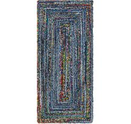 Link to 2' 6 x 6' 1 Braided Chindi Runner Rug