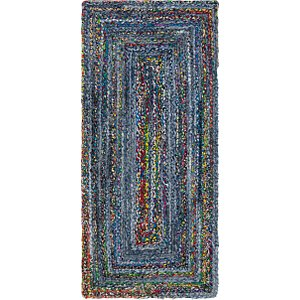 Unique Loom 2' 6 x 6' 1 Braided Chindi Runner Rug