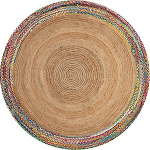 Unique Loom 8' x 8' Braided Jute Round Rug
