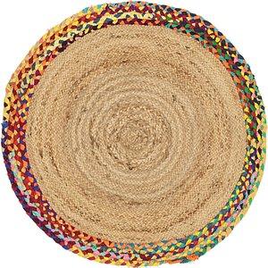 Unique Loom 3' 3 x 3' 3 Braided Jute Round Rug