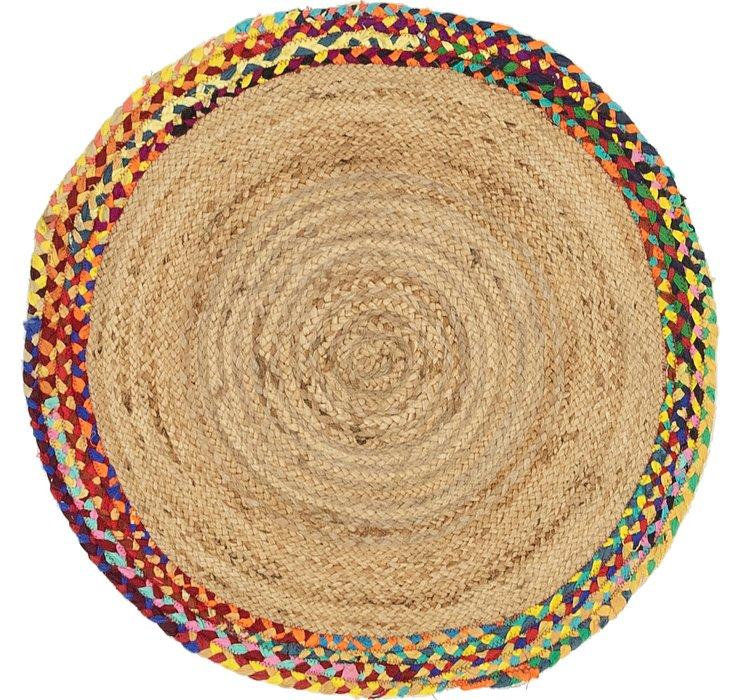 Natural Braided Jute Round Rug