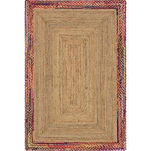 Unique Loom 6' x 9' Braided Jute Rug