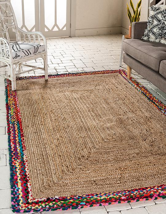 Natural 8 X 10 Braided Jute Rug Area Rugs Irugs Uk