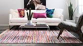 9' x 12' Braided Chindi Rug thumbnail image 3