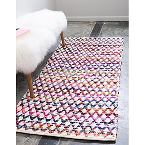 Unique Loom 2' 6 x 6' Braided Chindi Runner Rug