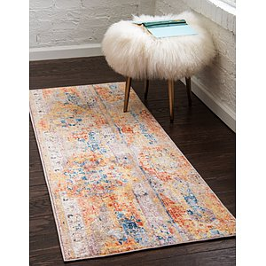 Unique Loom 2' 7 x 8' 2 Basilica Runner Rug