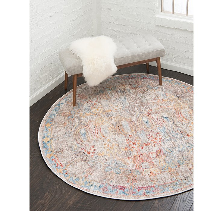3' 3 x 3' 3 Williamsburg Round Rug