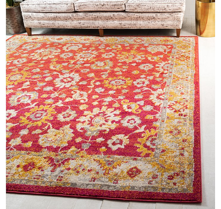 Rust Red Madeline Square Rug