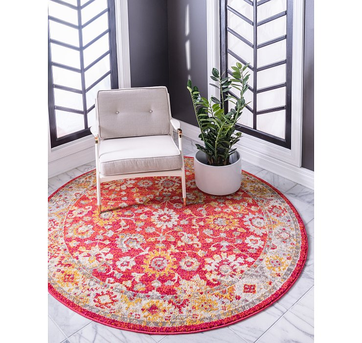Rust Red Madeline Round Rug