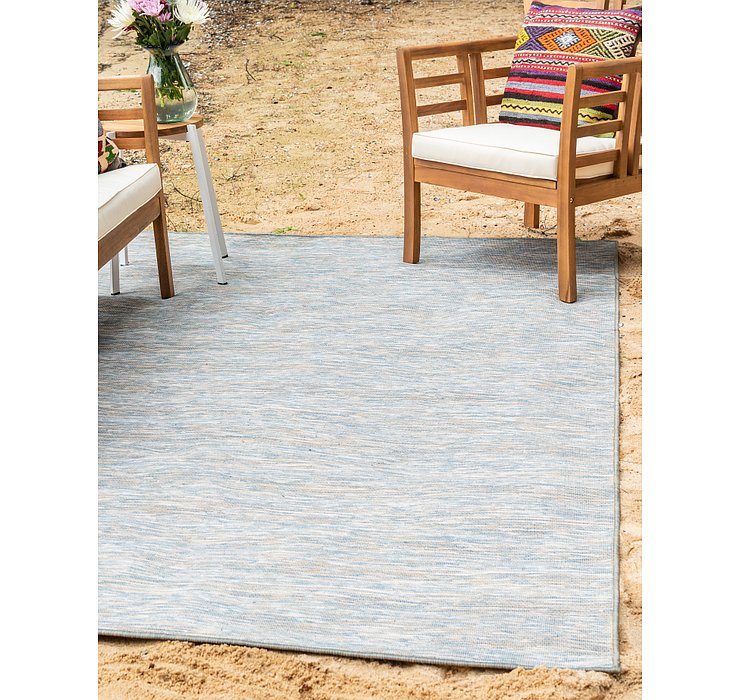 Blue Outdoor Veranda Rug