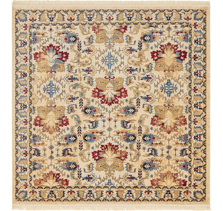 Ivory Kennedy Square Rug