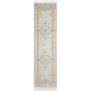 Link to 2' 7 x 9' 10 Qom Bamboo Silk Runner ... item page