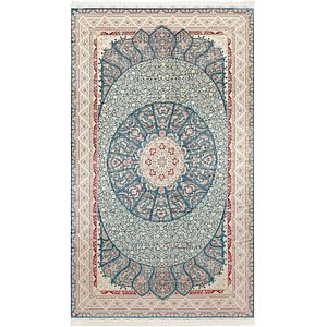 Link to 9' 10 x 16' 5 Qom Bamboo Silk Rug item page
