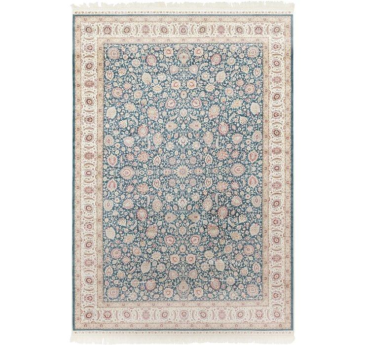 6' 7 x 9' 10 Qom Bamboo Silk Rug