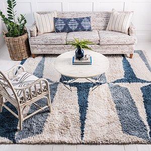 Unique Loom 8' x 8' Lagom Shag Square Rug