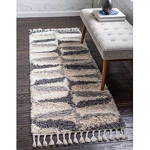 Unique Loom 2' 7 x 8' 2 Hygge Shag Runner Rug