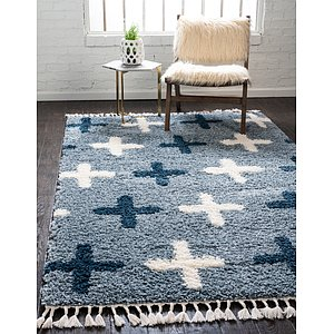 Unique Loom 8' x 10' Hygge Shag Rug
