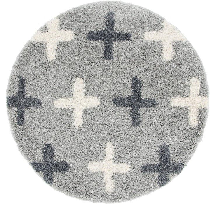 5' x 5' Lagom Shag Round Rug