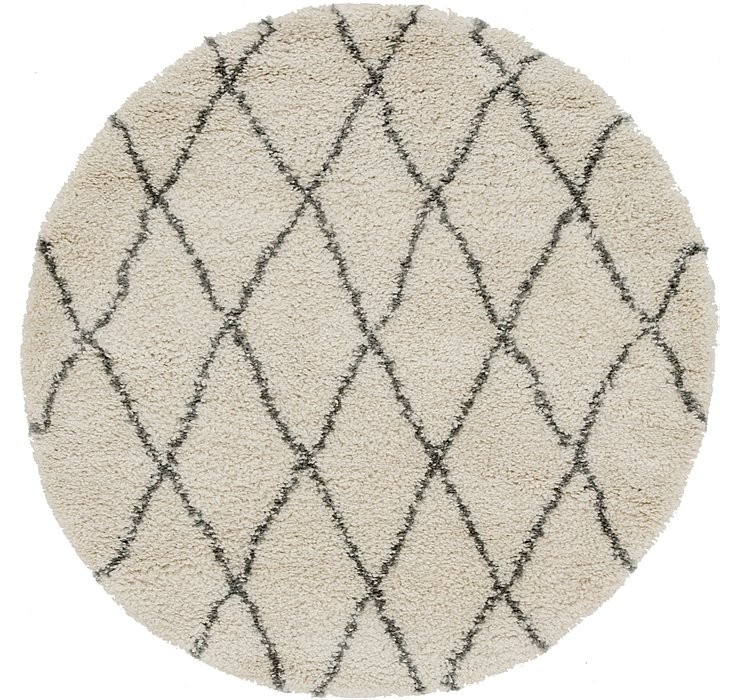 5' x 5' Morroccan Shag Round Rug