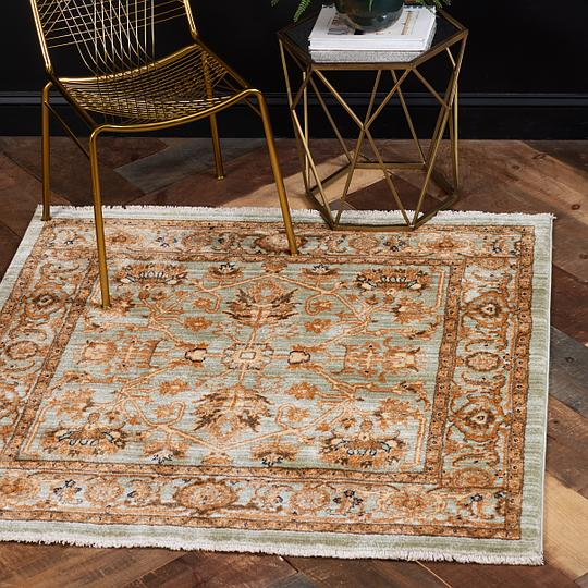 Graham And Green Emperor Rug: Light Green 135cm X 135cm Graham Square Rug
