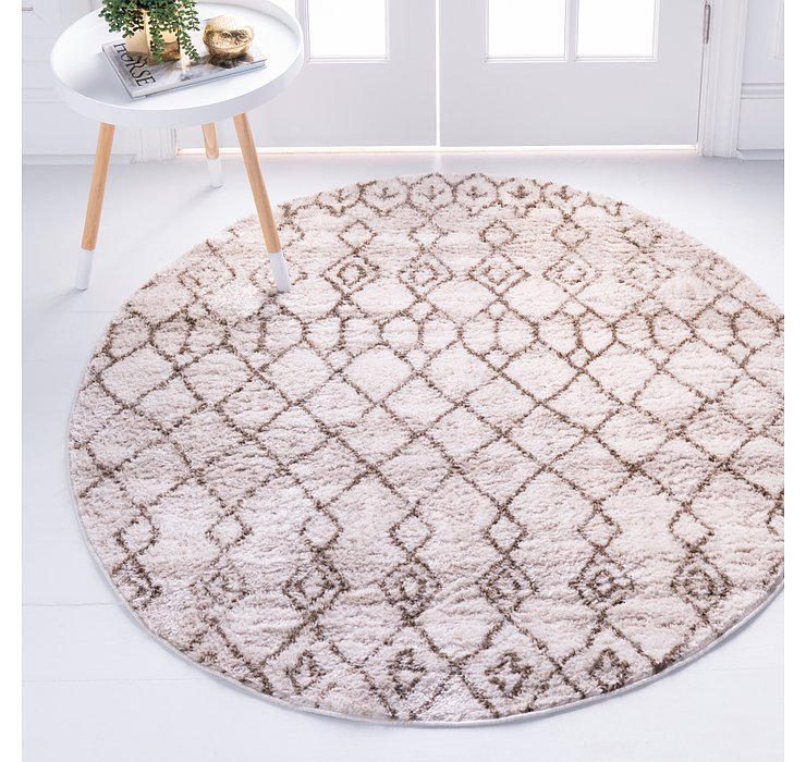 Brown Artemis Round Rug
