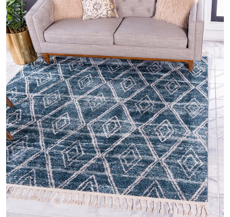 Dark Blue Artemis Square Rug