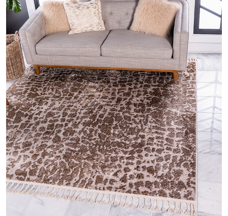 Brown Artemis Square Rug