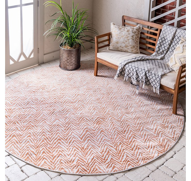 8' x 8' Outdoor Haven Round Rug