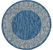 Link to 4' x 4' Outdoor Border Round Rug