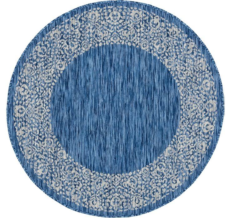 4' x 4' Outdoor Border Round Rug
